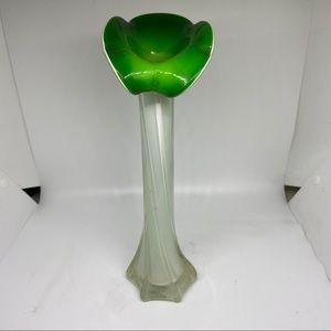 "Vintage Murano calla lily art  glass vase 11"""